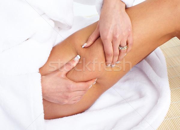 Celulite mulher corpo cuidar menina saúde Foto stock © Kurhan