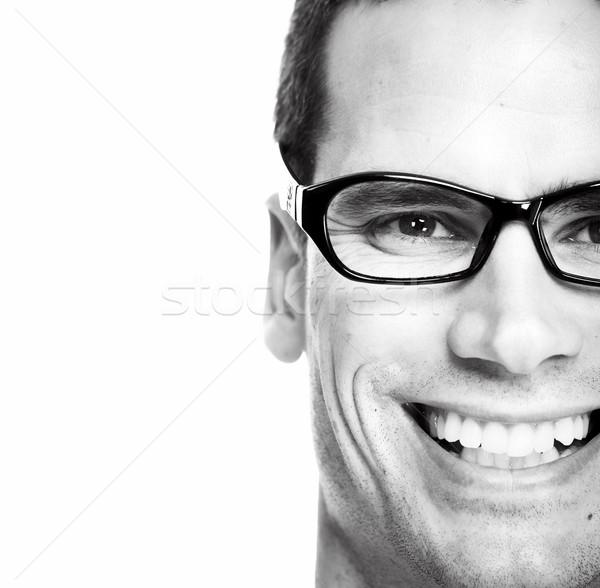 Man with eyeglasses. Stock photo © Kurhan