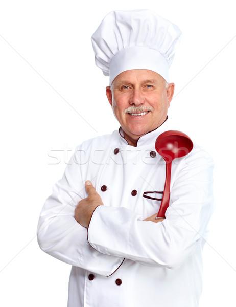 повар ковш зрелый профессиональных человека изолированный Сток-фото © Kurhan