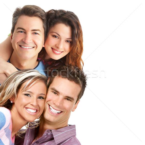 Valentijnsdag paar liefde glimlachend witte familie Stockfoto © Kurhan