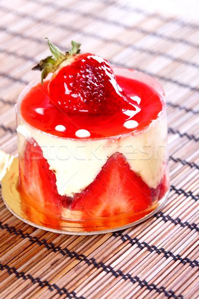 Stock foto: Süß · Kuchen · Früchtekuchen · Obst · Tabelle