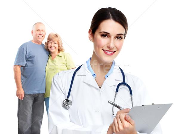 Médico família médico isolado branco mulher Foto stock © Kurhan