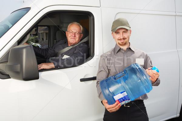 água entrega serviço homem garrafa grande Foto stock © Kurhan