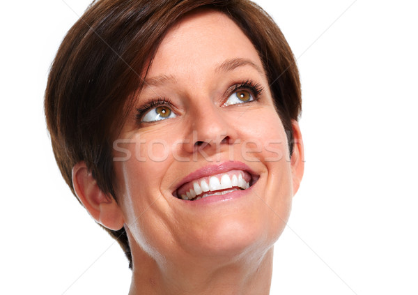 Beautiful mature  woman face. Stock photo © Kurhan
