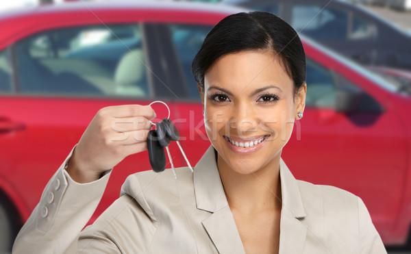 Автосалон женщину ключевые Auto аренда Сток-фото © Kurhan