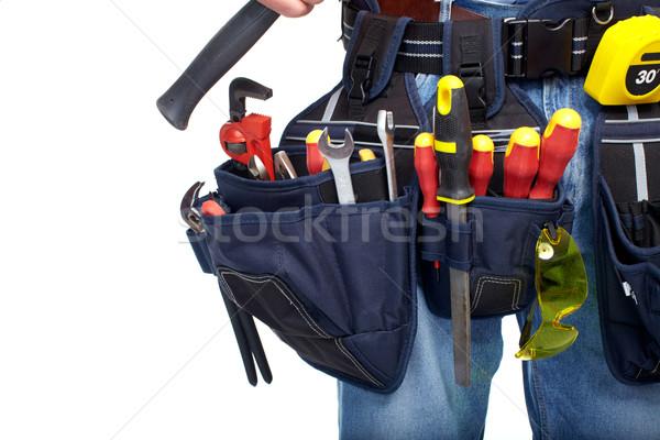 ツール ベルト 建設 ワーカー 孤立した ストックフォト © Kurhan