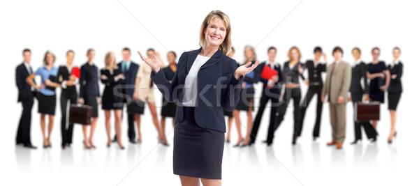 Business woman and people group. Stock photo © Kurhan