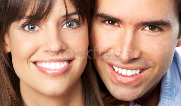 пару счастливым улыбаясь любви белый женщину Сток-фото © Kurhan