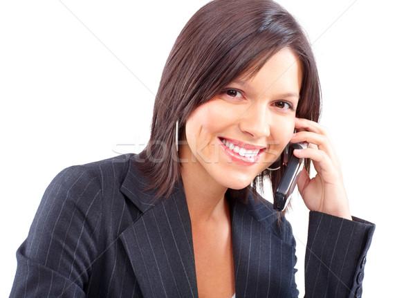Woman with cellular Stock photo © Kurhan