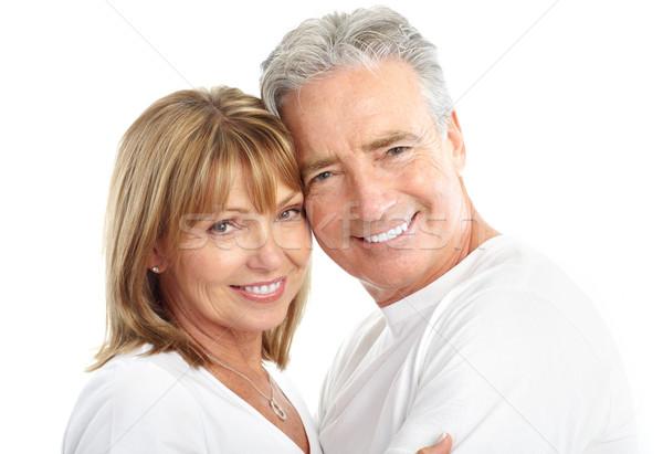 Zdjęcia stock: Para · szczęśliwy · miłości · zdrowych · zęby