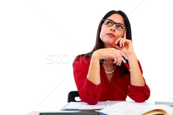Positive thinking woman. Stock photo © Kurhan