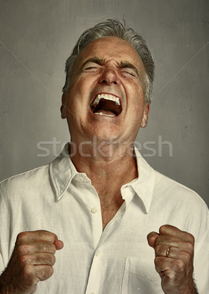 Angry screaming man. Stock photo © Kurhan