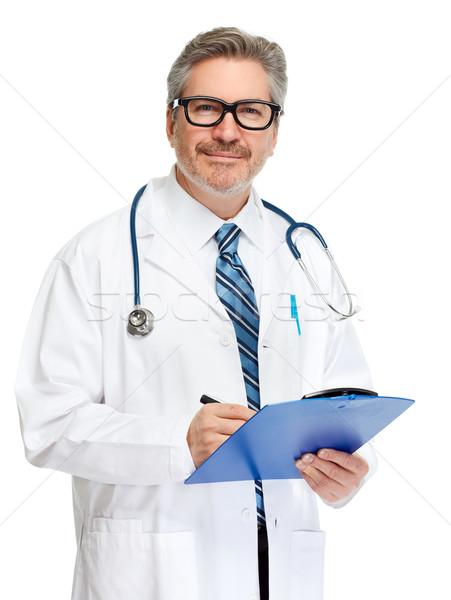 Doctor pharmacist with clipboard Stock photo © Kurhan