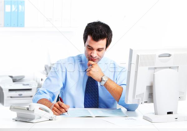 Сток-фото: бизнесмен · красивый · современных · служба · бизнеса · человека