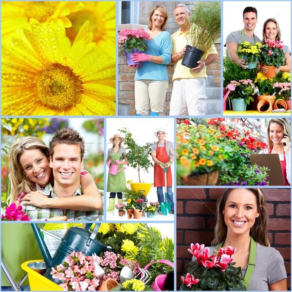 Stock photo: Gardening people.