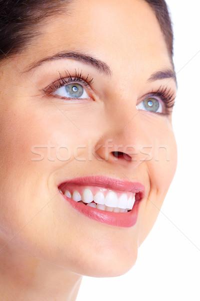 Schöne Frau Gesicht schönen zahnärztliche Gesundheit Stock foto © Kurhan