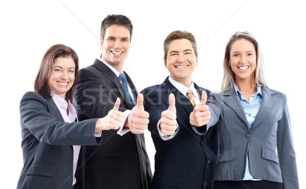 ストックフォト: ビジネスの方々 · グループ · 孤立した · 白 · 女性 · 笑顔