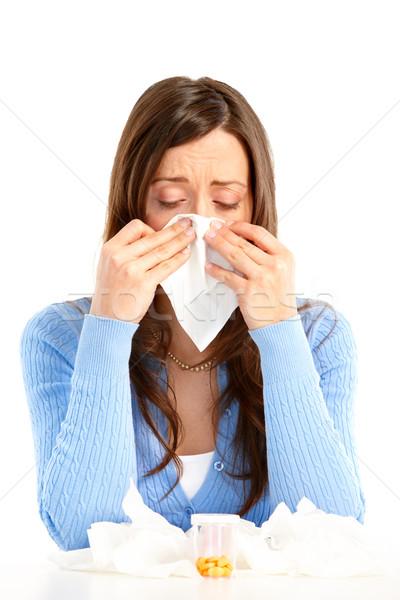 Flu, allergy Stock photo © Kurhan