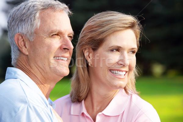 Stockfoto: Park · gelukkig · ouderen · familie · liefde