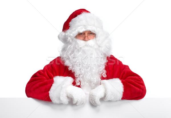サンタクロース バナー クリスマス 孤立した 白 紙 ストックフォト © Kurhan