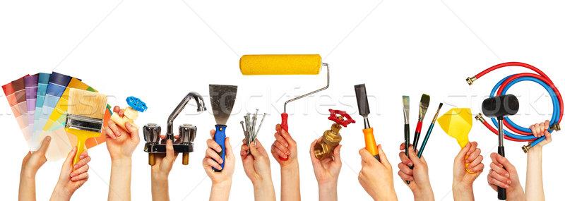 Set of construction tools. Stock photo © Kurhan