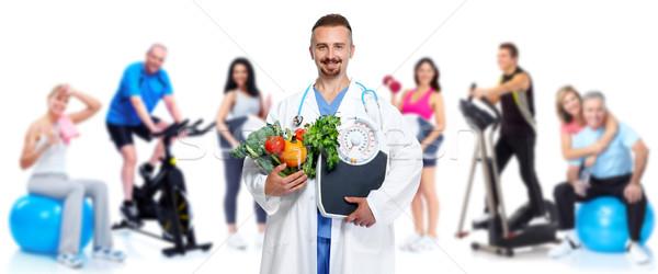Zdjęcia stock: Lekarza · warzyw · grupy · fitness · ludzi · zdrowych