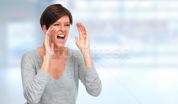 Shouting woman. Stock photo © Kurhan