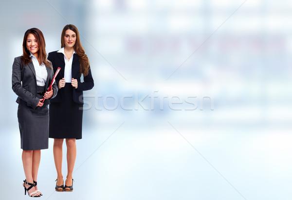 Equipe de negócios grupo jovem pessoas de negócios azul escritório Foto stock © Kurhan