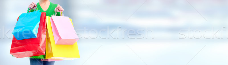 Woman with shopping bags Stock photo © Kurhan