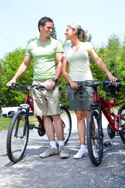 Stock photo: Riding couple.