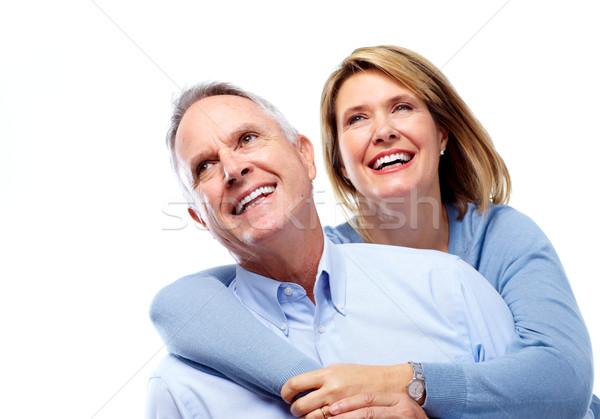 Stockfoto: Gelukkig · ouderen · paar · liefde · geïsoleerd
