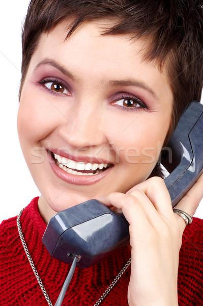 Calling woman Stock photo © Kurhan
