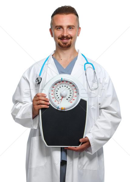 Arts lichaam schalen medische voedingsdeskundige Stockfoto © Kurhan