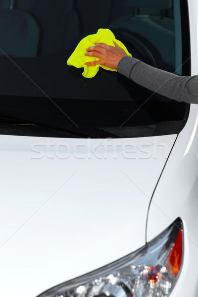 Stock fotó: Autó · viasz · ruha · kéz · mosás · gyantázás