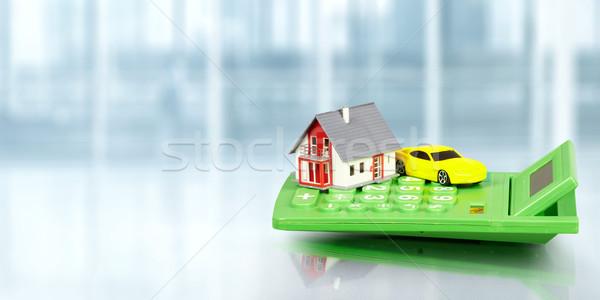 House with car and calculator. Stock photo © Kurhan