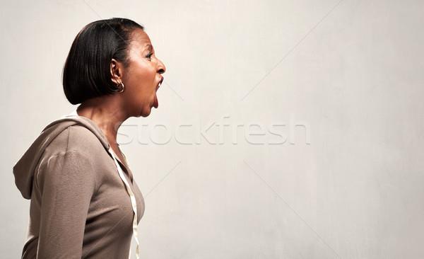 Zły krzyczeć kobieta furia płacz Zdjęcia stock © Kurhan