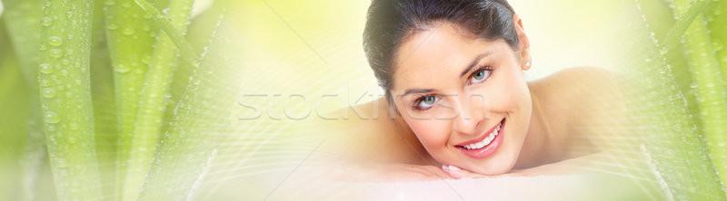 Woman having massage Stock photo © Kurhan