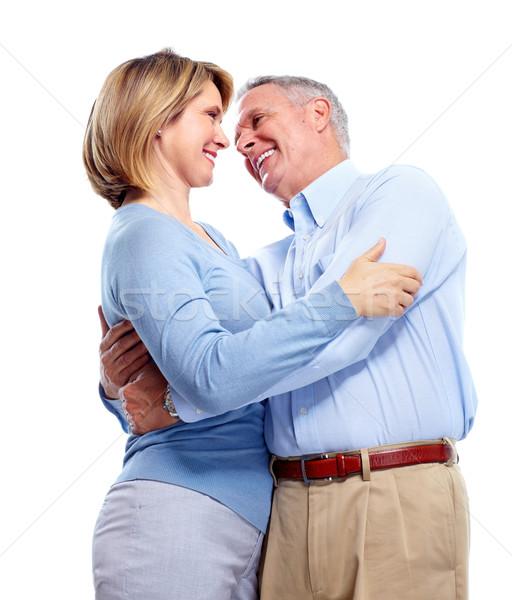 Stock fotó: Boldog · idős · pár · idős · pár · szeretet · izolált