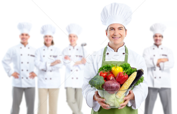 Chef bakker man professionele groep geïsoleerd Stockfoto © Kurhan