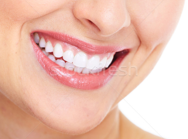 Happy woman smile. Dental care. Stock photo © Kurhan