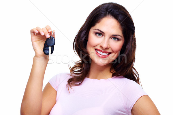 Woman with a car keys. Stock photo © Kurhan