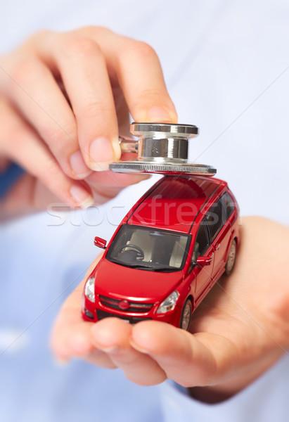 Mão carro automático fundo Foto stock © Kurhan