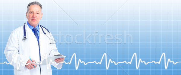 Senior doctor cardiologist. Stock photo © Kurhan