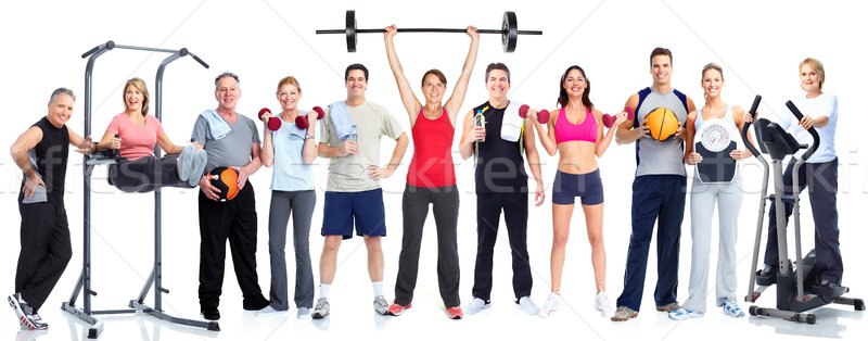 Stock photo: Group of fitness people