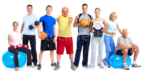 Group of healthy fitness people. Stock photo © Kurhan