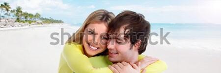 Young smiling couple. Stock photo © Kurhan