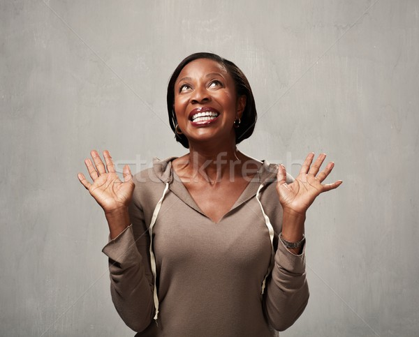 Stock photo: Happy african woman
