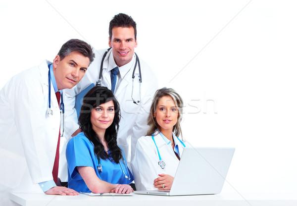 Orvosi orvosok csoport izolált fehér üzlet Stock fotó © Kurhan