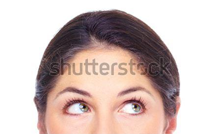 Piękna młoda kobieta oczy portret odizolowany Zdjęcia stock © Kurhan