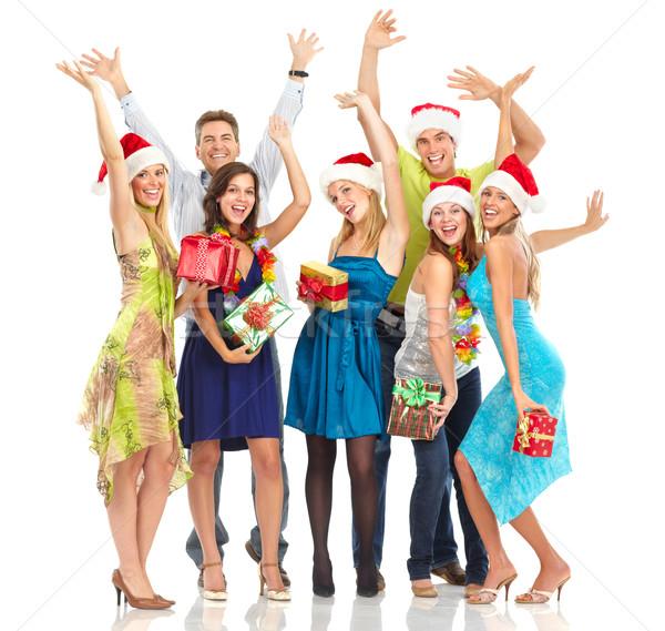 Pessoas felizes feliz engraçado pessoas natal festa Foto stock © Kurhan